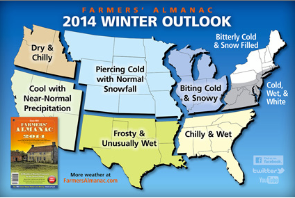 Farmer's Almanac Looks Pretty Good For Snow