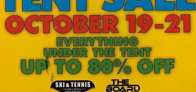 Don't Miss The Tent Sale! Stop by from October 19-21!