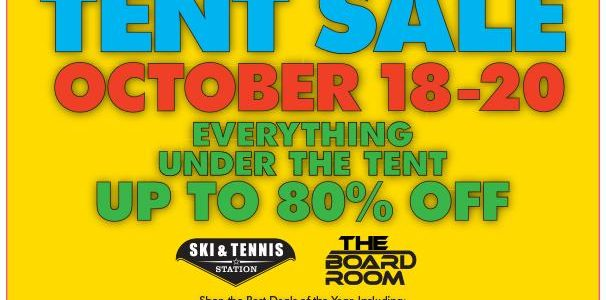 Join Us For Our Annual Tent Sale on Oct. 18-20
